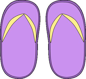 Purple Flip Flops Clip Art