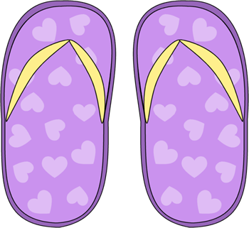 Purple Heart Flip Flops Clip Art