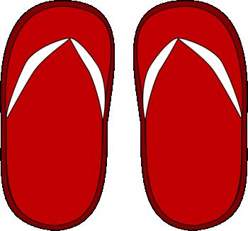 Red Flip Flops Clip Art