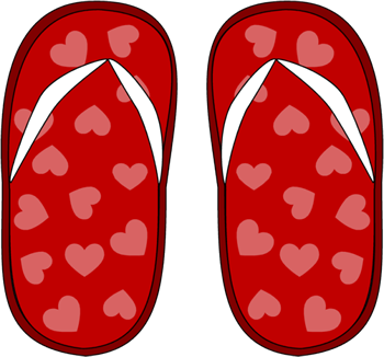 Red Heart Flip Flops