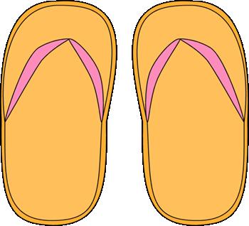 Yellow Flip Flops Clip Art