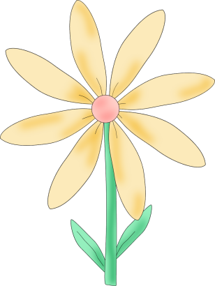 flower clip art png. Yellow and Pink Flower Clip