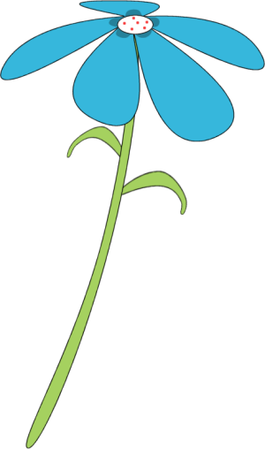 Flower clip art flower images blue flower red dots mightylinksfo