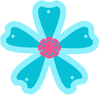 Blue and pink flower clip art blue and pink flower image blue and pink flower mightylinksfo Choice Image