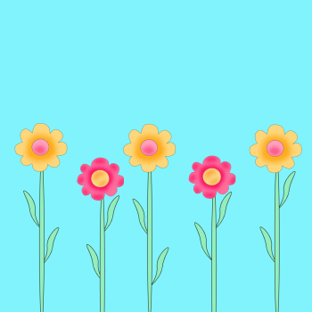 Flower Picture Frames on Bright Flowers Clip Art   Bright Flowers Image