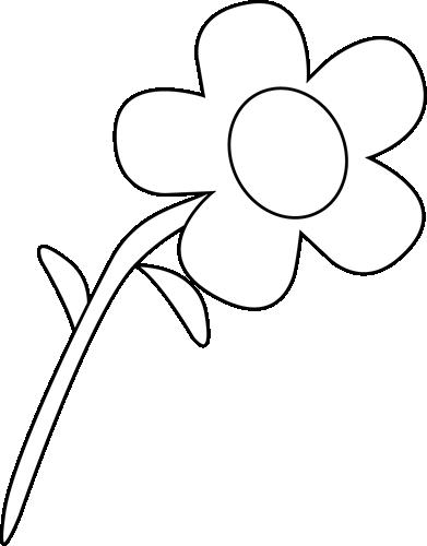 Flower clip art flower images black and white flower mightylinksfo