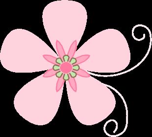 Flower clip art flower images pink brown flower mightylinksfo
