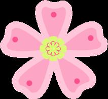 Pink Green Flower