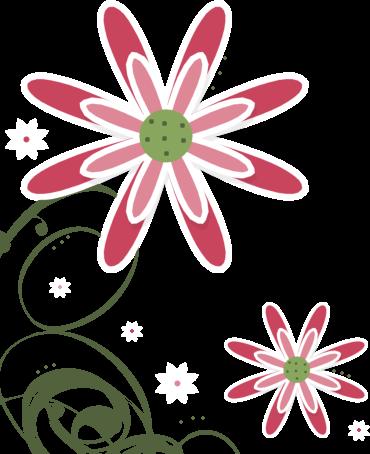 Pink White Swirly Flower