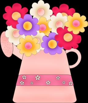 Pot of Flowers Clip Art - Pot of Flowers Image