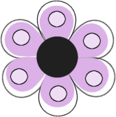 Purple Dotted Flower