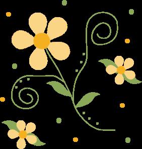Flower clip art flower images yellow flower pattern mightylinksfo Gallery