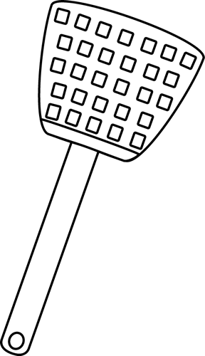 Black and White Fly Swatter