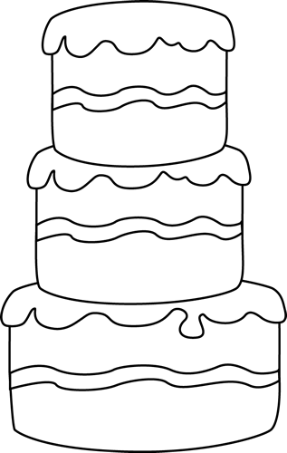 Big Black and White Cake Clip Art - Big Black and White ...