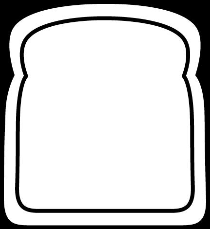 Black and White Black and White Big Slice of Bread Clip ...