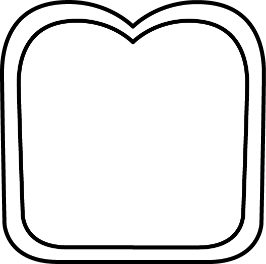 Black and White Slice of Bread