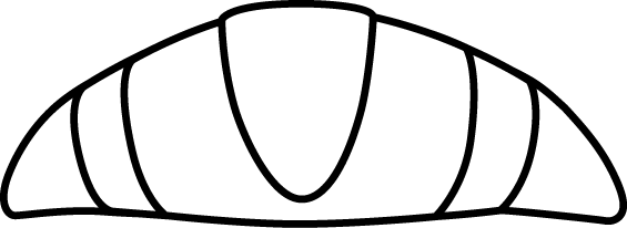 Large Black & White Croissant