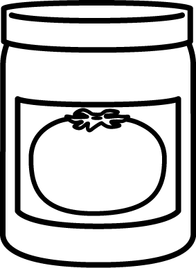 Black and White Jar of Spaghetti Sauce