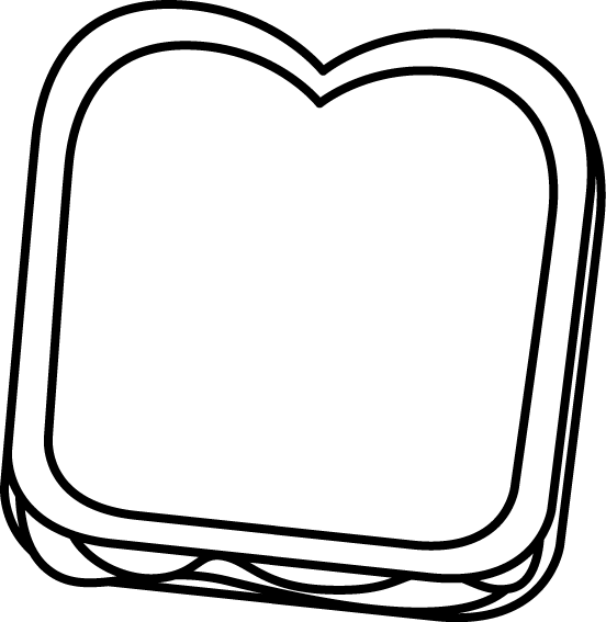 Black and White Peanut Butter and Jelly Sandwich Clip Art ...