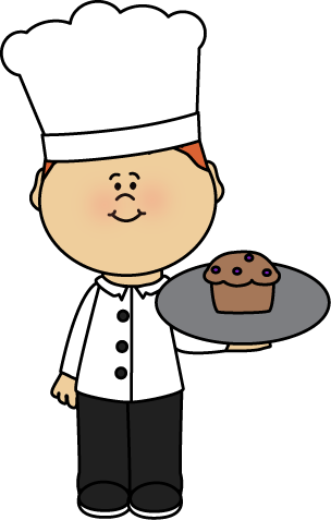 Chef with Muffin Clip Art