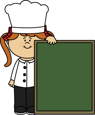 Chef and Chalkboard Clip Art