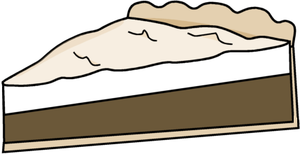 Pie Cream Clip Art