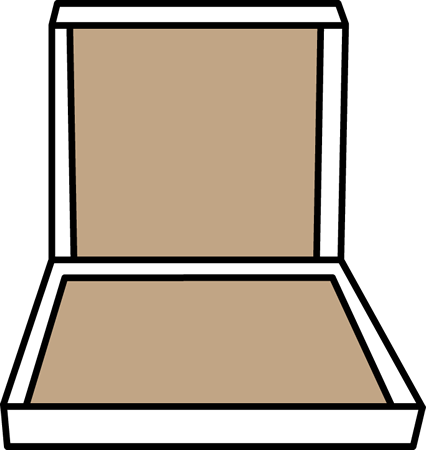 Empty Pizza Box Clip Art - Empty Pizza Box Image