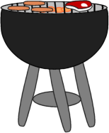 Clip Art Grill Clip Art grill clip art image of a with steak and hot dogs grilling