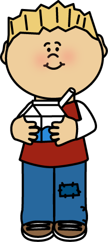 Kid Drinking Milk Clip Art