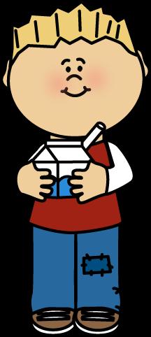 Kid Drinking Milk Clip Art