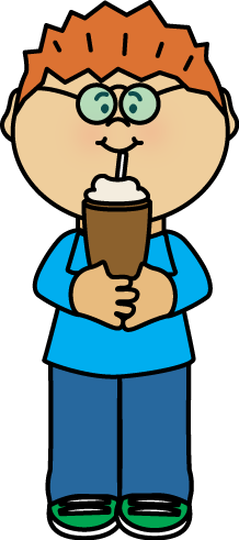 Kid Drinking Milkshake