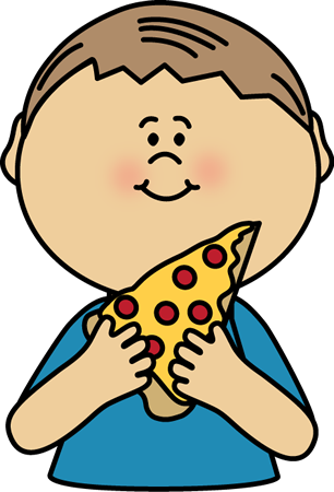 Kid Eating Pizza Clip Art Kid Eating Pizza Image