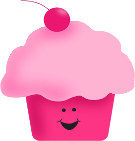 Pink Happy Cupcake