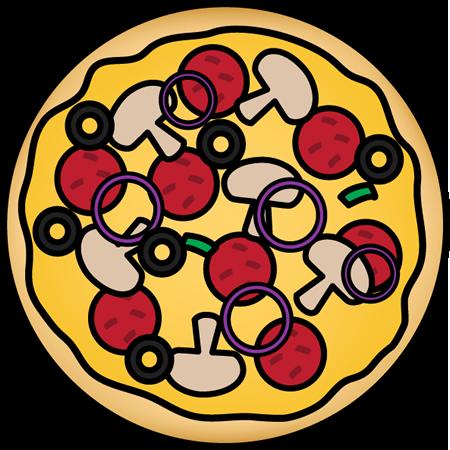 pizza pie clip art pizza pie image Pizza Toppings Template pizza toppings clip art black and white