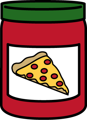 Pizza Sauce Clip Art Image - glass jar of pizza sauce