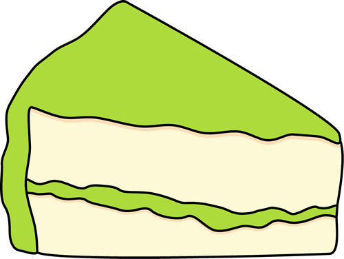 Slice of Cake with Green Frosting