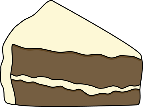 Slice of Chocolate Cake with White Frosting