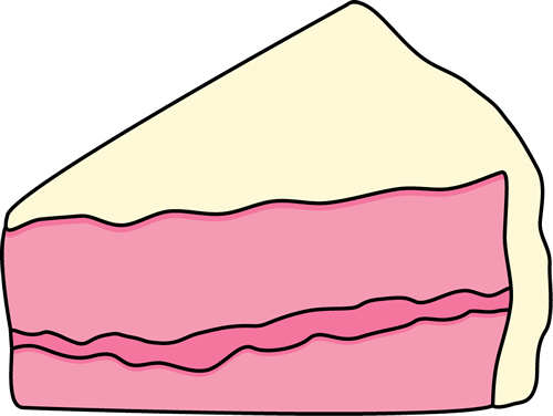 Slice of Pink Cake with White Frosting
