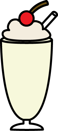 Vanilla Milkshake with Whipped Cream