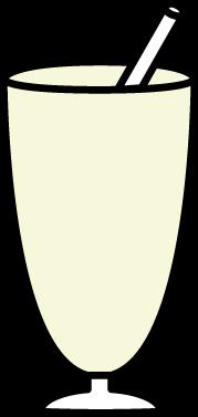 Vanilla Milkshake Clip Art