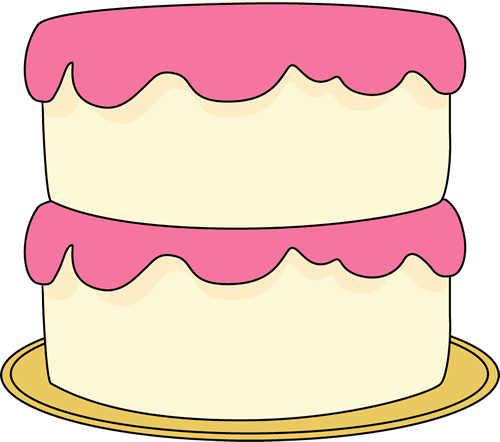 Clip Art Clipart Cake cake clip art images white with pink frosting