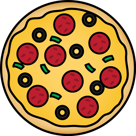 Pizza Images on Circle Fraction
