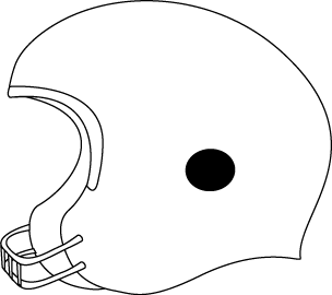 Black and White Football Helmet
