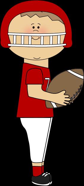 Boy Catching Football