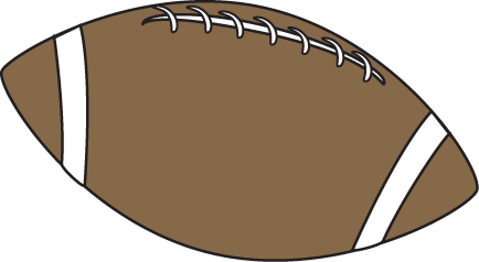 Football Ball with Black Outline