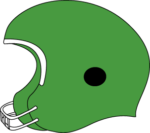 Green Football Helmet
