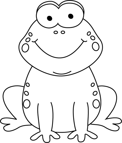 Black and white cartoon frogs - photo#1