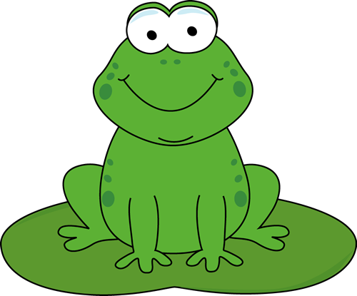 Cartoon Frog on a Lily Pad