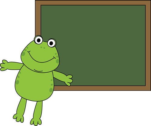 Frog and Chalkboard