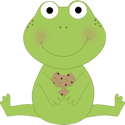 Frog Eating a Cookie
